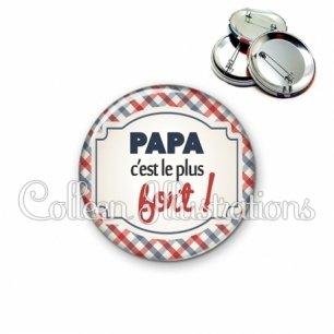 Badge 56mm Papa le plus fort (013MUL01)