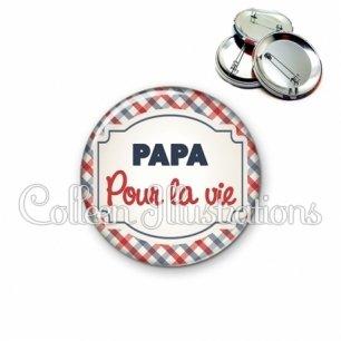 Badge 56mm Papa pour la vie (013MUL01)