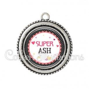 Pendentif résine Super ASH (007NOI01)