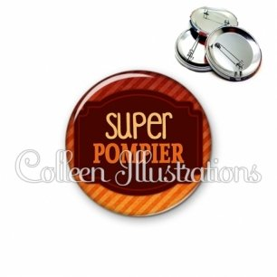 Badge 56mm Super pompier (013ORA01)