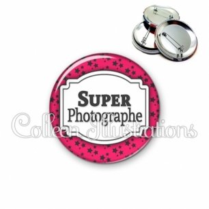 Badge 56mm Super photographe (013ROS02)