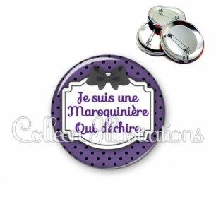 Badge 56mm Maroquinière qui déchire (013VIO01)