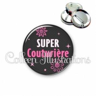 Badge 56mm Super couturière (014GRI01)