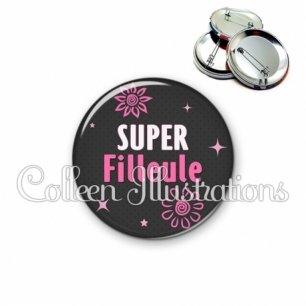 Badge 56mm Super filleule (014GRI01)