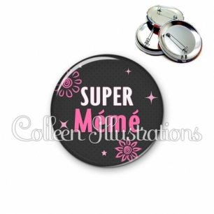 Badge 56mm Super mémé (014GRI01)