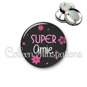 Badge 56mm Super amie (014GRI02)