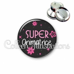 Badge 56mm Super animatrice (014GRI02)