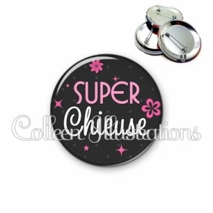 Badge 56mm Super chieuse (014GRI02)