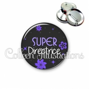 Badge 56mm Super directrice (014GRI04)