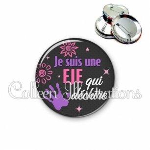 Badge 56mm EJE qui déchire (014GRI08)