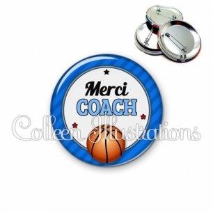 Badge 56mm Merci coach (016BLE01)