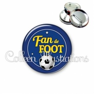 Badge 56mm Fan de foot (016BLE04)