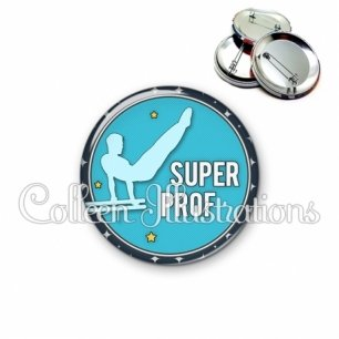 Badge 56mm Super prof (016BLE05)
