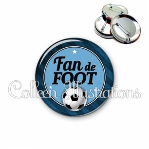 Badge 56mm Fan de foot (016GRI03)
