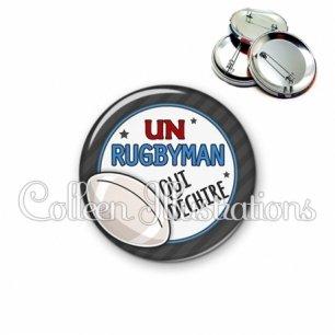 Badge 56mm Rugbyman qui déchire (016GRI05)
