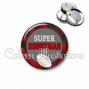 Badge 56mm Super rugbyman (016MUL03)