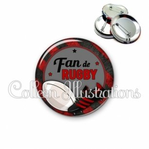 Badge 56mm Fan de rugby (016MUL04)