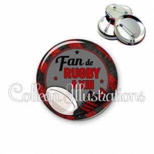 Badge 56mm Fan de rugby à XIII (016MUL04)