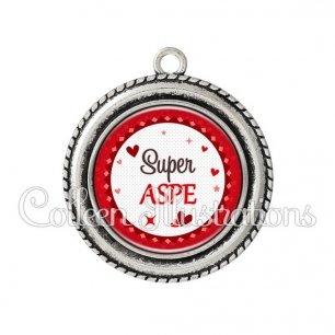Pendentif résine Super ASPE (007ROU01)