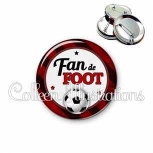 Badge 56mm Fan de foot (016MUL10)