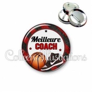 Badge 56mm Meilleure coach (016MUL12)