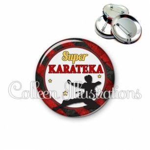 Badge 56mm Super karateka (016MUL14)