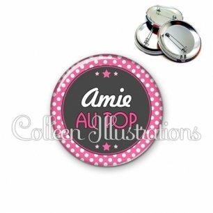 Badge 56mm Amie au top (016ROS01)