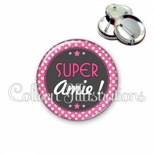 Badge 56mm Super amie (016ROS01)
