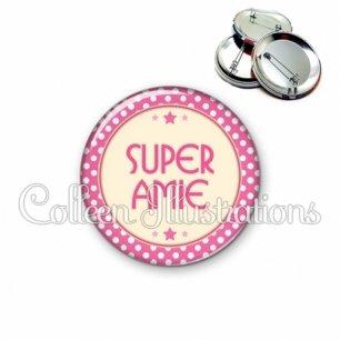 Badge 56mm Super amie (016ROS04)