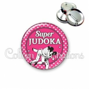 Badge 56mm Super Judoka (016ROS06)