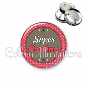 Badge 56mm Super copine (016ROU01)