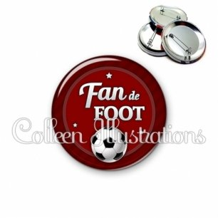 Badge 56mm Fan de foot (016ROU02)