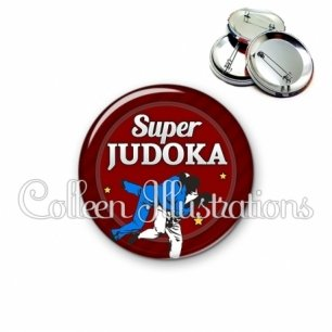 Badge 56mm Super judoka (016ROU02)
