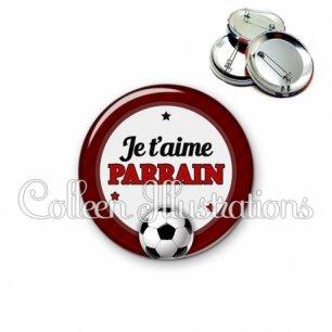 Badge 56mm Parrain je t'aime (016ROU03)