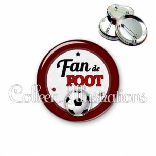 Badge 56mm Fan de foot (016ROU03)
