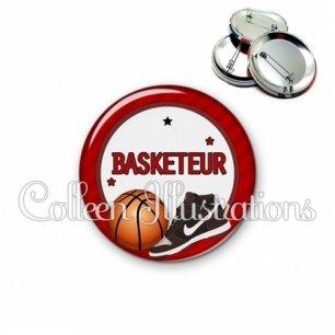 Badge 56mm Basketteur (016ROU04)