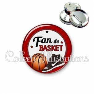 Badge 56mm Fan de basket (016ROU04)