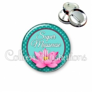 Badge 56mm Super masseur (016VER01)