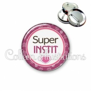 Badge 56mm Super instit (016VIO01)