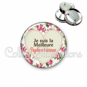 Badge 56mm La meilleure psychomotricienne (015MUL02)
