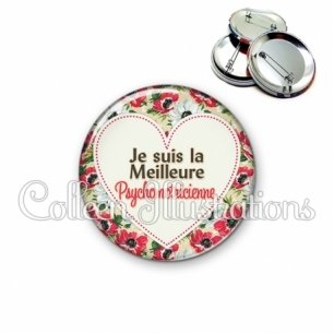 Badge 56mm La meilleure psychomotricienne (015MUL04)