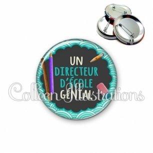 Badge 56mm Directeur génial (017BLE01)