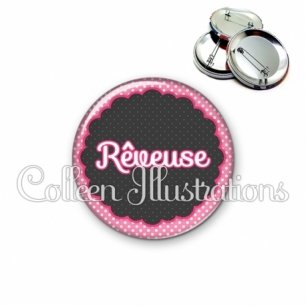 Badge 56mm Rêveuse (017ROS02)
