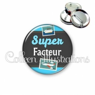 Badge 56mm Super facteur (019BLE01)
