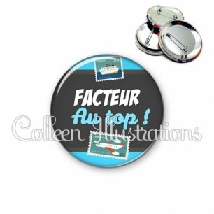 Badge 56mm Facteur au top (019BLE01)