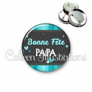 Badge 56mm Bonne fête papa (019BLE02)
