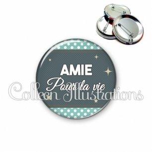 Badge 56mm Amie pour la vie (019BLE06)