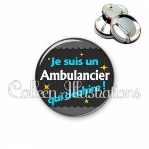 Badge 56mm Ambulancier qui déchire (019GRI01)