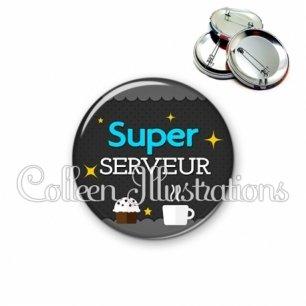 Badge 56mm Super serveur (019GRI03)