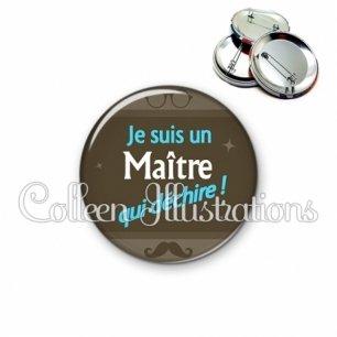 Badge 56mm Maître qui déchire (019MAR01)